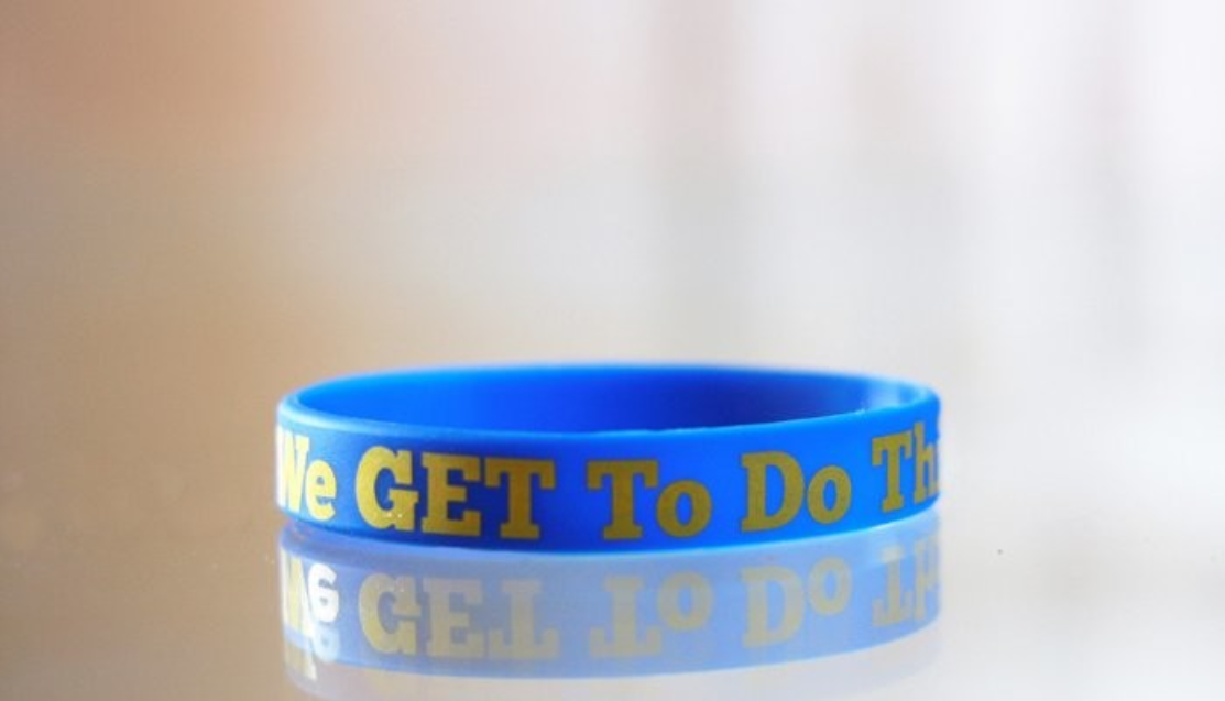 We get to do this wrist band